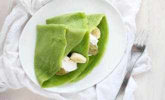 Green Crepes & Coconut Pistachio Butter