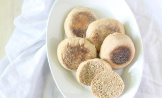100% Kamut Sourdough English Muffins