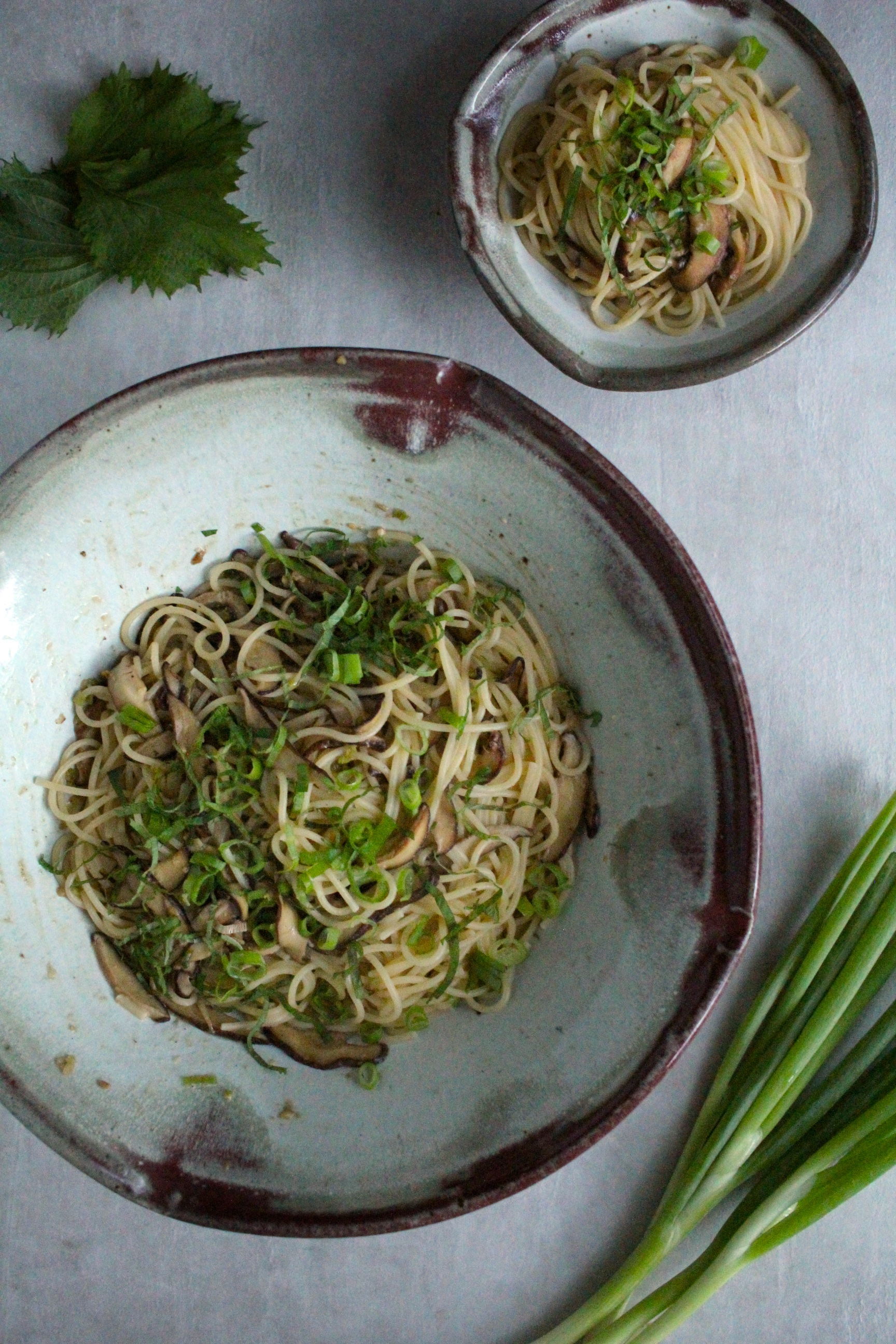 Miso-Butter and Shiitake Pasta