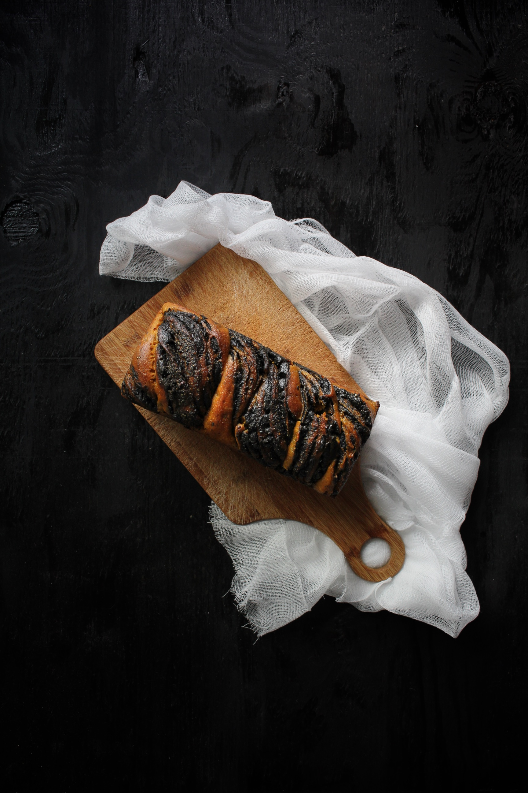 Sourdough Kabocha and Black Sesame Babka