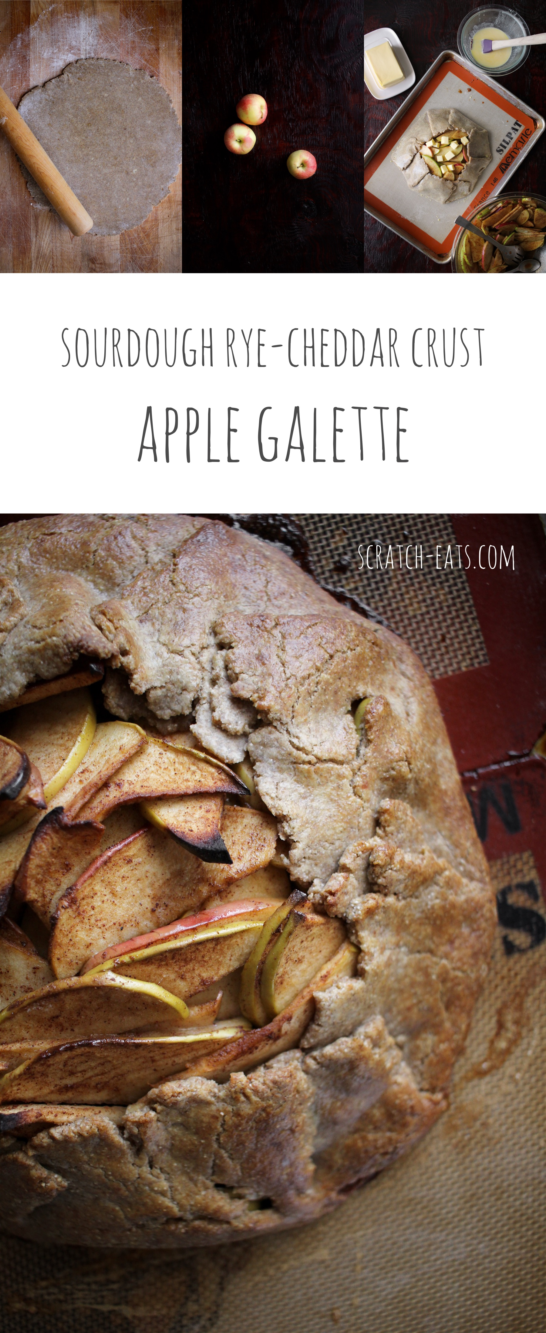 Sourdough Rye-Cheddar Crust Apple Galette