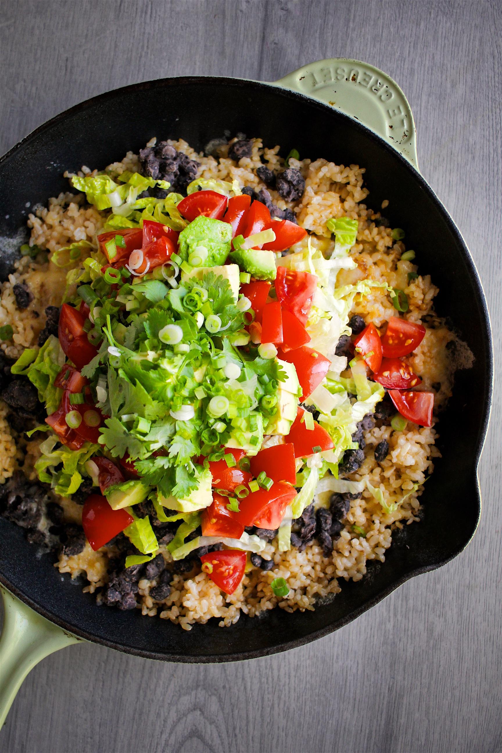Vegetarian Okinawa Taco Rice
