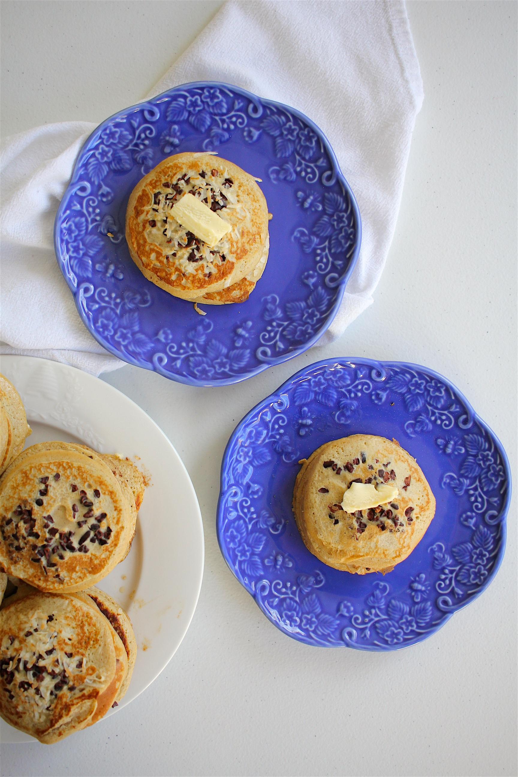 Banana + Cacao Nib Pancakes