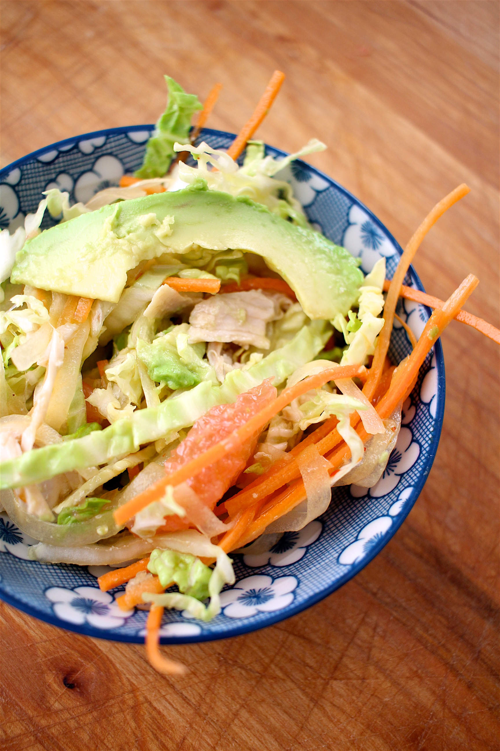 Asian Chicken Salad with Zippy Sesame Dressing