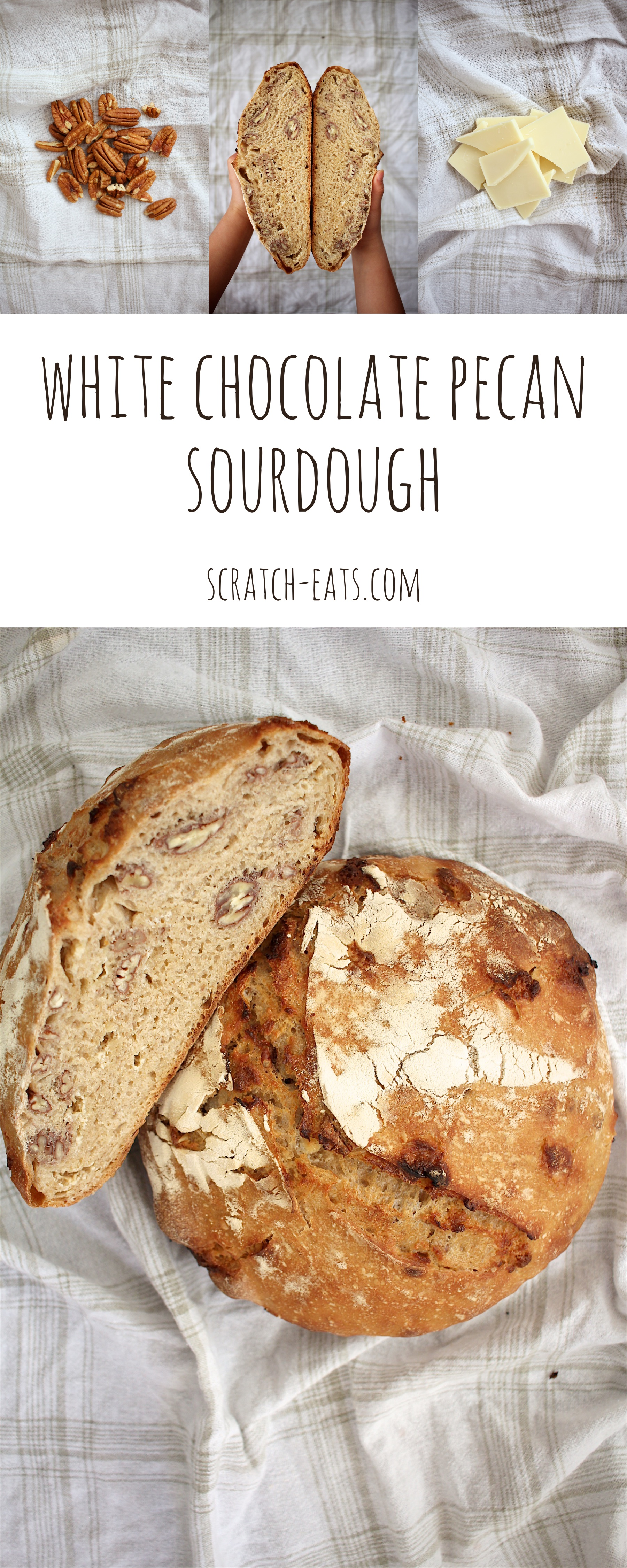 White Chocolate Pecan Sourdough